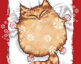LET IT SNOW cat christmas card