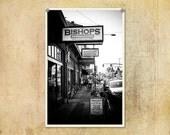 Portland Street Photography Bishop's Barbershop--Fine Art Black and White Photography 8x12