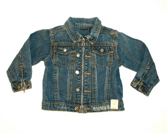 Vintage CALVIN KLEIN Kids Denim Jacket - 3T