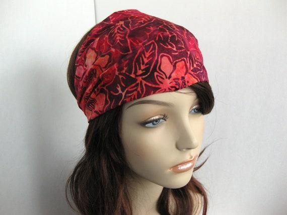 Flower Batik Headband Fabric Headband Yoga Head Wrap Womens Headband Gypsy Head Wrap Bandana Hair Accessories Womens Gift for Her Gift Ideas