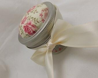 Sweet floral pattern Pin Cushion Jar