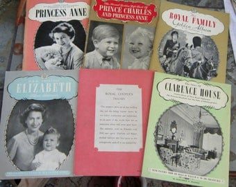 Royal Family of England set of SEVEN History Booklets