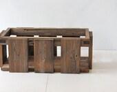 Desk Organizer - - Reclaimed Wood Crate - - Wooden Box - - Wood Caddy - - Magazine Box - Home Decor