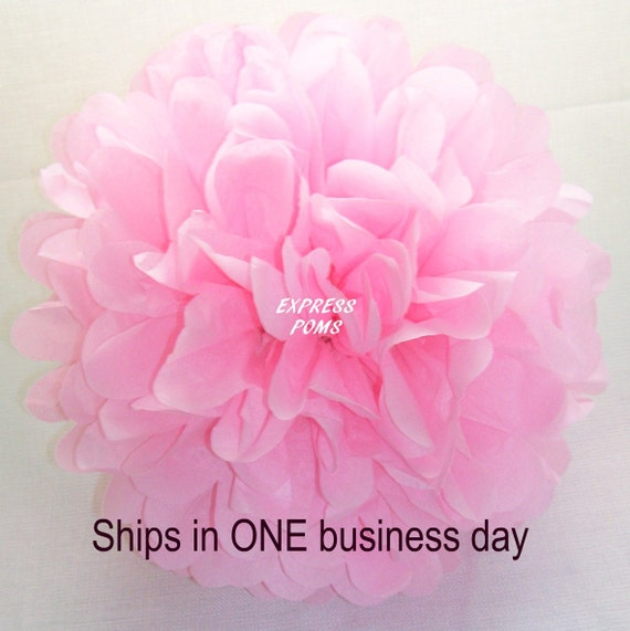 Light Pink Tissue Paper Pom Pom - 1 Large Pom - 1 Piece - Ships within ONE Business Day