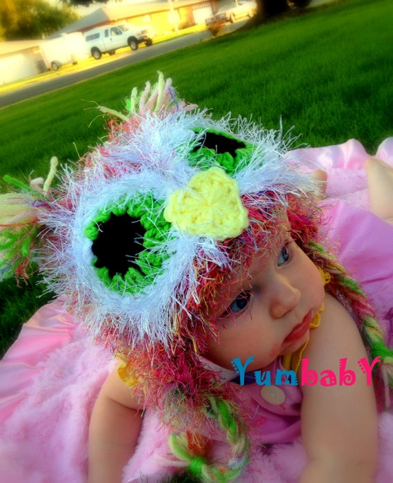 Owl Hat with Earflaps Fuzzy Pink Hats Baby Hat Girl Easter Clothes Photography Prop Owl Beanie Halloween Costume idea