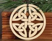 Celtic Knot ornament wooden hanging decoration