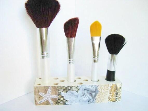 Mermaid Bathroom Decor And Accessories: Mermaid Decor Makeup Brush Holder Bathroom By FindsofaKind