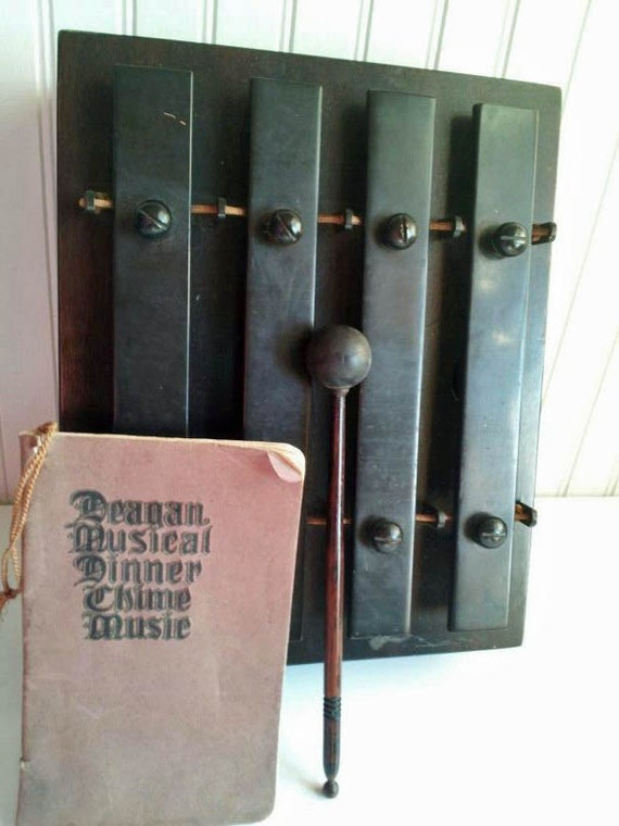 Vintage Deagan Dinner Chimes and Musical Dinner Booklet