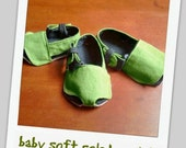 baby soft soled sandal - green...baby sandals...baby shoes...infant shoes...baby soft soled shoes