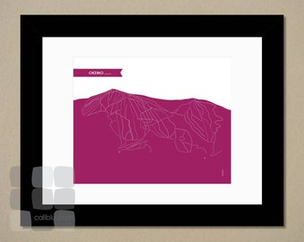 Okemo Trail Map - 8x10 - Modern Art Print