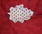 Lefton Holly Shaped Candy dish
