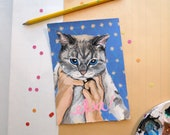 "5""x7"" Cute Custom Pet Portrait"