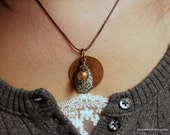 Abby Three Piece Pendant Necklace - Mix of Metals