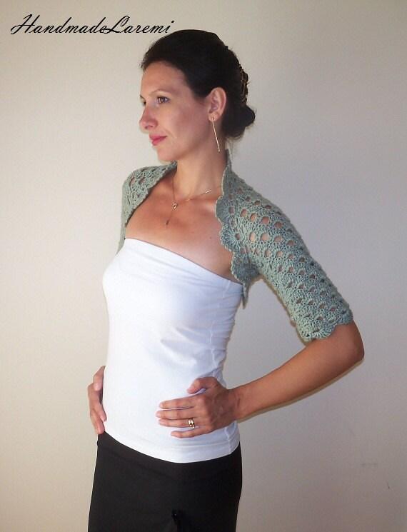 ... Crochet Bolero Shrug / Lace Crochet Bolero Jacket / Wedding Bolero