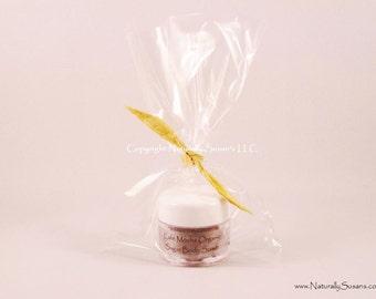COFFEE SCRUB FAVORS - Cafe Mocha Organic Sugar Body Scrub - Chocolate Coffee / Travel Size / Bridal Shower Favors Minis