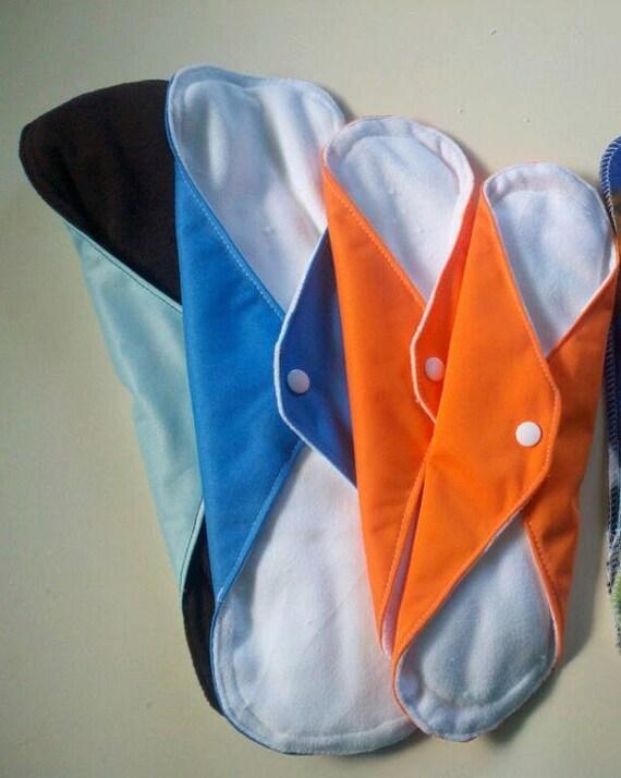 "14"" Mama Cloth Reusable Menstrual Pad Postpartum Pad Urinary Incontinence"