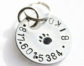 Aluminum small paw dog tag
