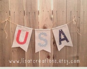 Patriotic USA Felt Banner // Patriotic decoration