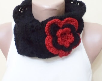 Crocheted Scarf, women clothing, Cowl, Chunky Scarves, Women accessories,  Cowl Scarf, neckwarmer, Winter accessories, Winter gifts