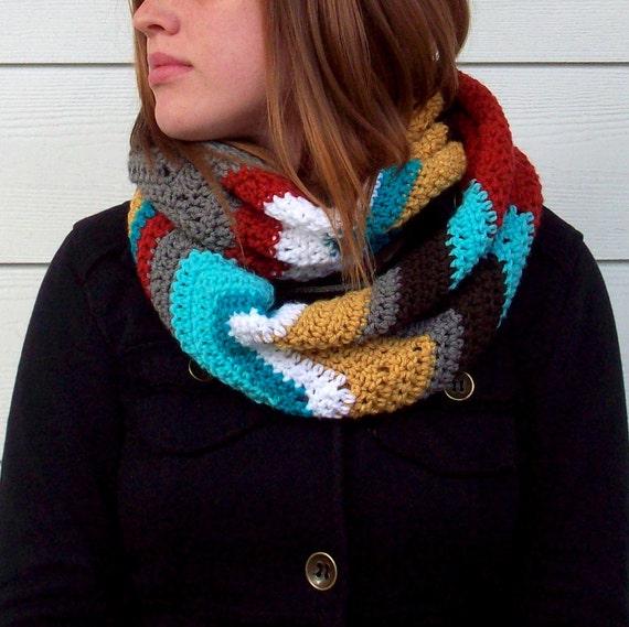 Free Crochet Pattern Chevron Infinity Scarf Pakbit For