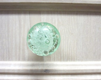 Bubble Glass Knob - Mint Green