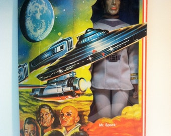 """Vintage Mego Star Trek Mr. Spock -12.5"""" Action Figure -NIB.-1979."""