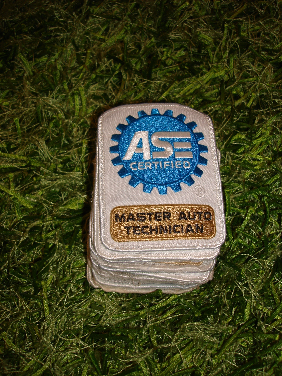 ase certified master technician patches uniform embroidered