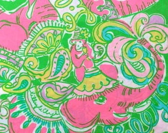 Sparkle  Pink Chin Chin 18 X 18 inches cotton poplin  ~Lilly  Pulitzer for Garnet Hill~