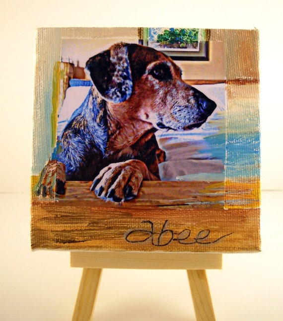 Dog Portrait for Dog Lovers - Mini Canvas with Easel  - TAGT
