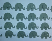 100 Grey Elephant Die Cuts- Double Sided, Textured Card Stock- Table Confetti, Baby Shower Decoration, Scrapbook Embellishments