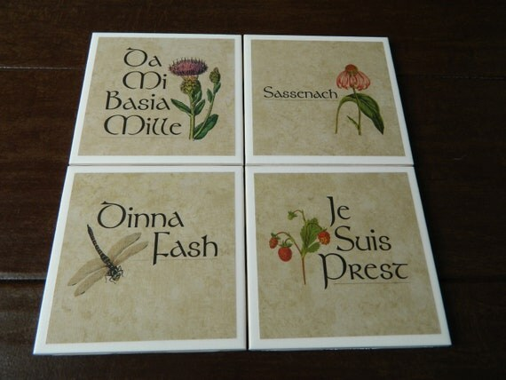 Outlander coasters -Mix and Match Custom set of 4