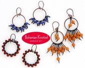 KIT-Bohemian Knotted Earrings-SILVER KIT