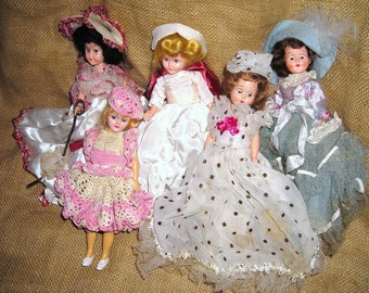 Vintage Marcie Dolls.... Nurse....1940's...Signed..Southern Belle...Sleepy Eyed Dolls....Collectibles...Sweetheart
