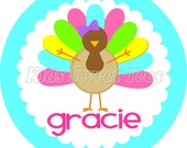 Thanksgiving diva turkey- personalized - digital image  - Fall - Autumn