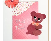 Children's Art, Nursery Art, Kid's Decor, Kid's Art, Nursery Wall Art - Hang On There Little Bear