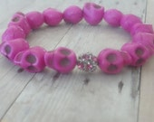 Think Pink Skull Bracelet