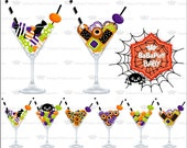 Halloween Candy Martini Clip Art ---- Personal and Small Commercial Use ---- BB 0230