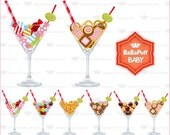 Candy Martini Clip Art ---- Personal and Small Commercial Use ---- BB 0192