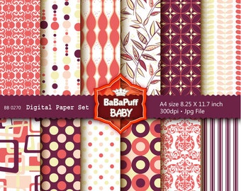 Buy 2 Get 2 Free ---- Digital Papers ---- Personal and Small Commercial Use ---- BB 0270