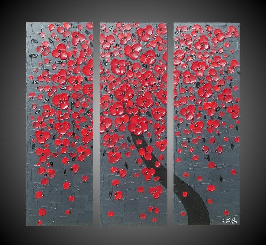 3 tableaux modern acrylique peinture abstrait contemporain sur. Black Bedroom Furniture Sets. Home Design Ideas
