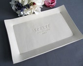 Wedding Gift, Engagement Gift or Signature Guestbook Platter - Rectangular Personalized Platter - Gift Boxed