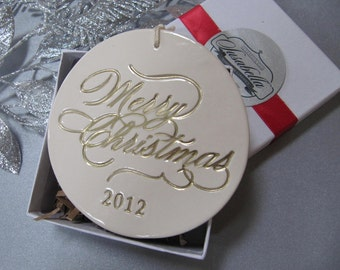 Large 2017 Merry Christmas Ornament - Gift Boxed and Ready to Give