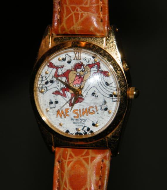 Collectible Armitron Me Sing Tasmanian Devil Taz Musical Quartz Watch