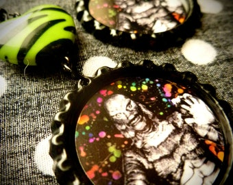 Neon Creature earrings
