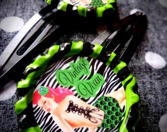 Vintage Vixen hair clips