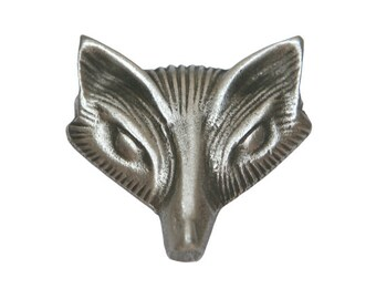 2 Fox Vixen 7/8 inch ( 23 mm ) Metal Pewter Buttons