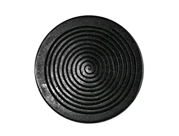 2 Noir Black 7/8 inch ( 23 mm ) Metal Buttons