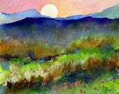 "Evening sunset in Vermont 13"" x 19"" Archival Digital Print"