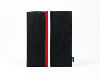 Felt iPad 1 2 3 4 Case iPad Air Sleeve iPad Air Pouch Tablet Case iPad Bag Custom Made with Elastic Strap E542