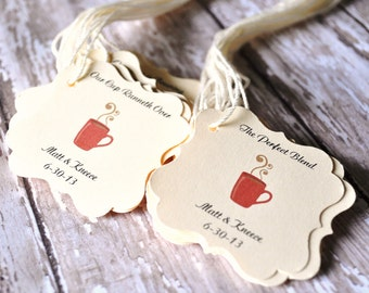 Coffee favor tags for bags wedding